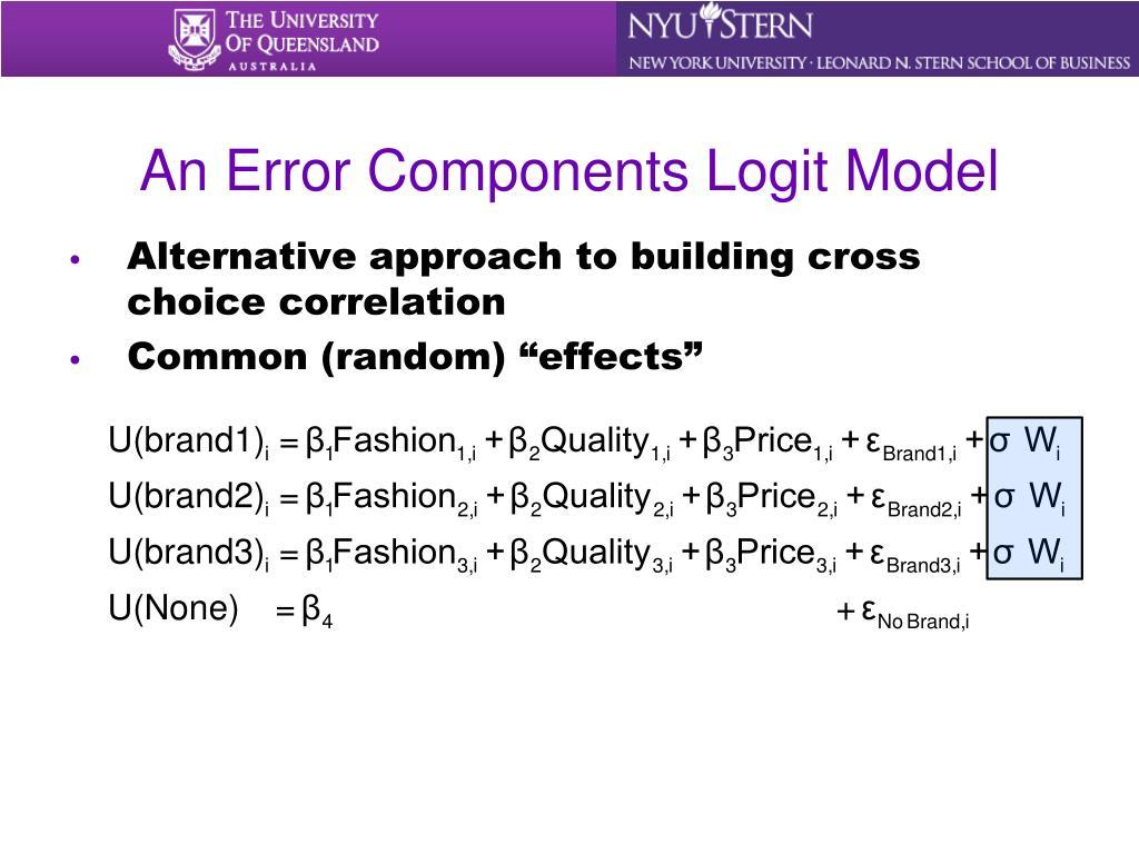 An Error Components Logit Model