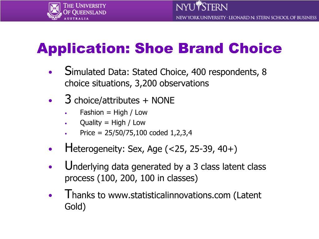 Application: Shoe Brand Choice