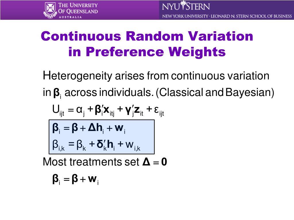 Continuous Random Variation