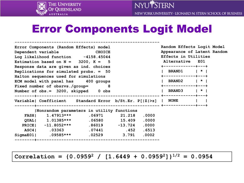 Error Components Logit Model