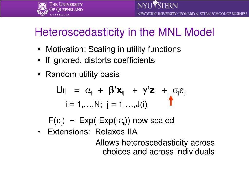 Heteroscedasticity in the MNL Model