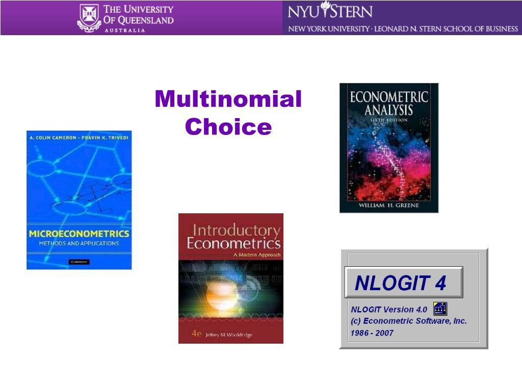 Multinomial Choice