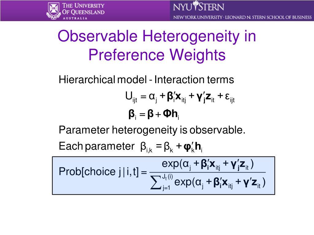 Observable Heterogeneity in