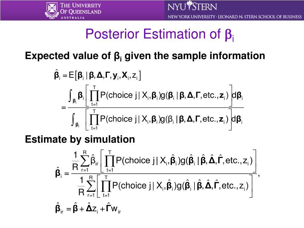 Posterior Estimation of