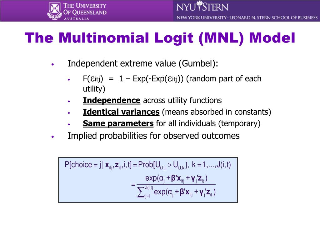 The Multinomial Logit (MNL) Model