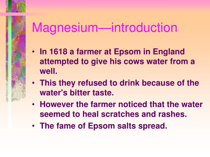 Magnesium—introduction