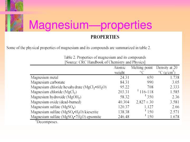 Magnesium—properties