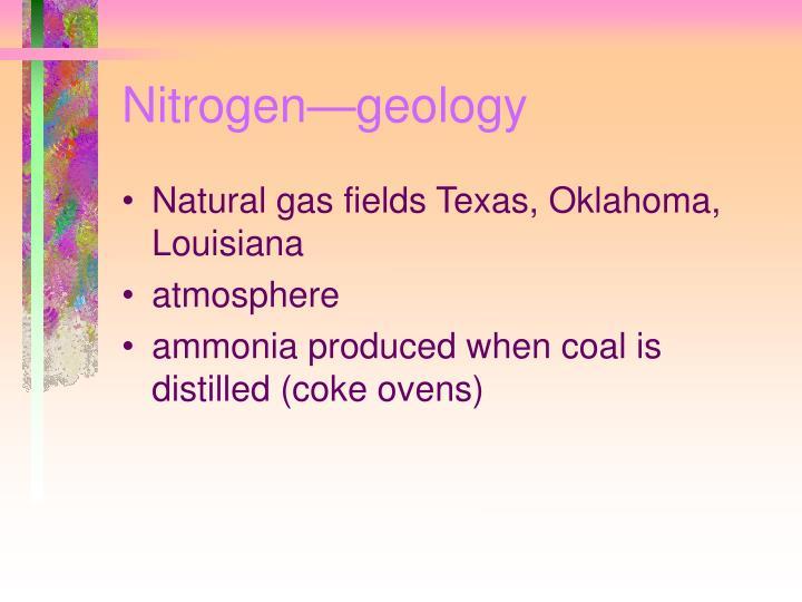 Nitrogen—geology
