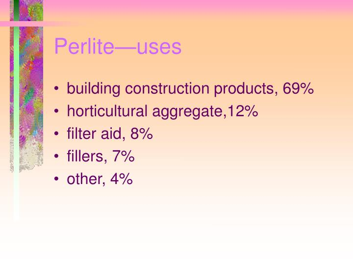 Perlite—uses
