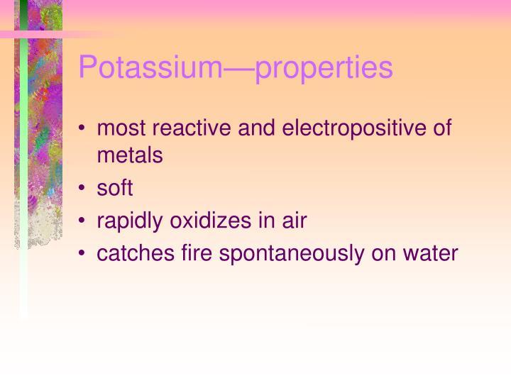 Potassium—properties