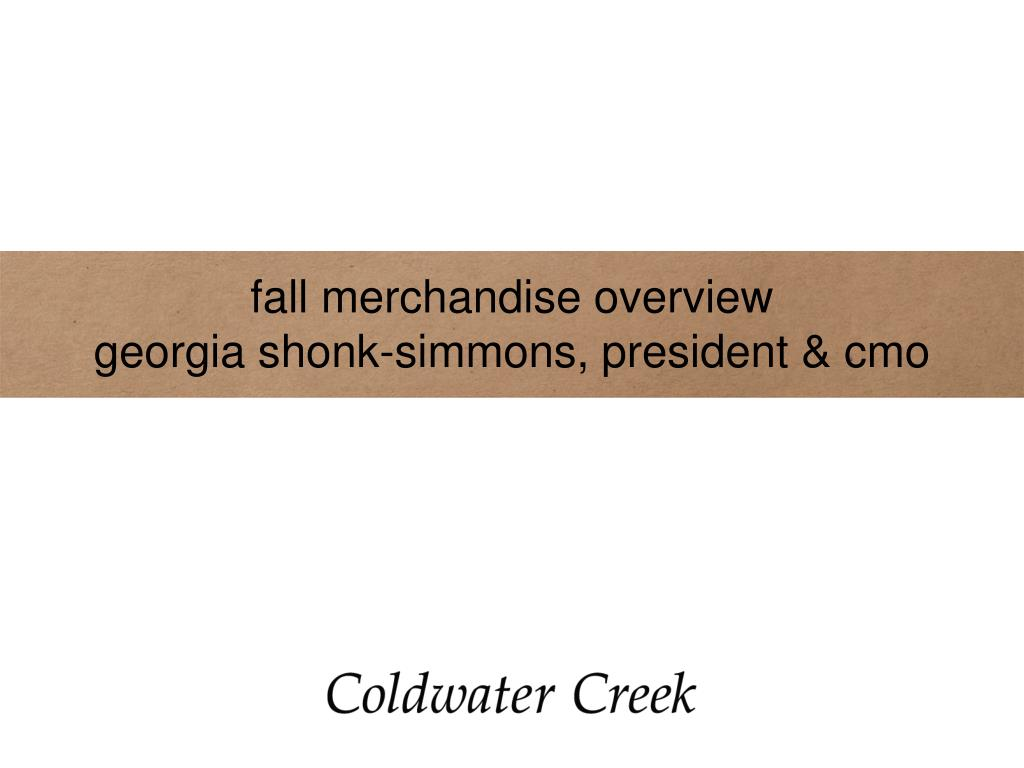 fall merchandise overview
