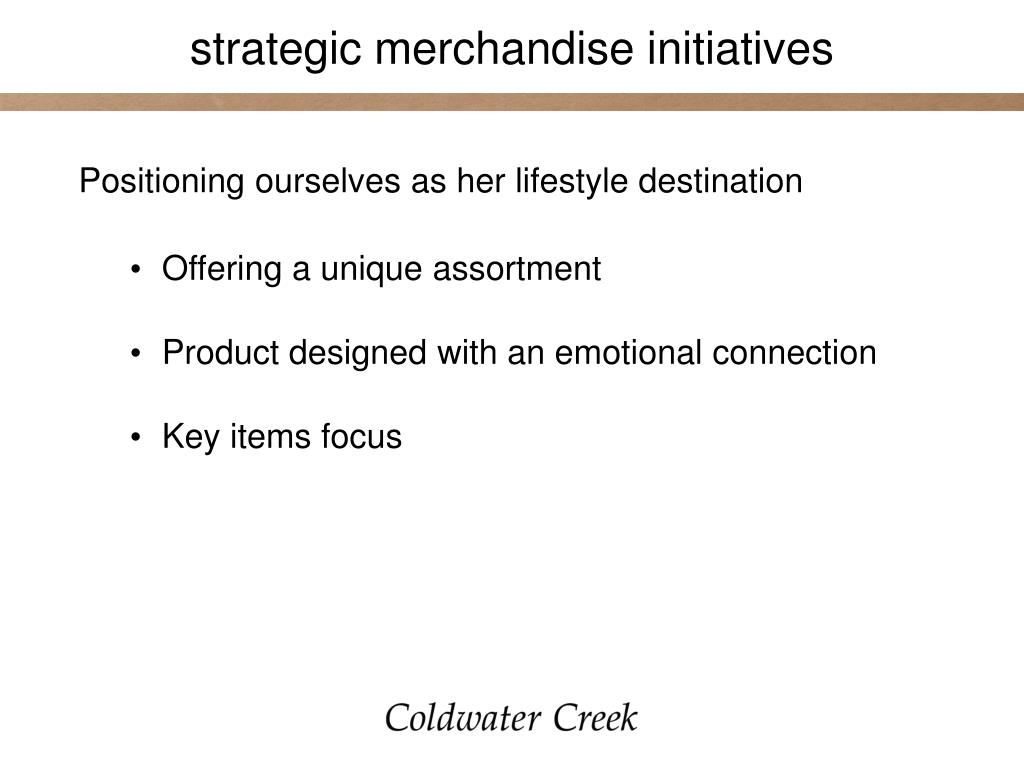 strategic merchandise initiatives