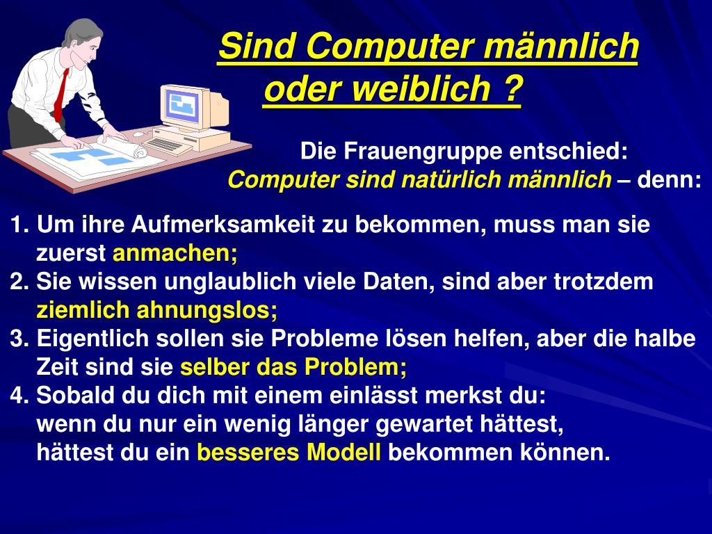 Sind Computer männlich