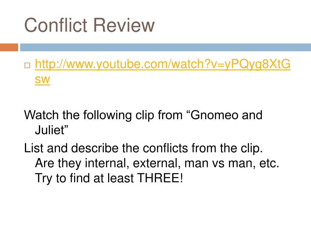 Conflict Review
