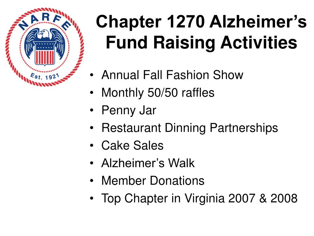 Chapter 1270 Alzheimer's Fund Raising Activities