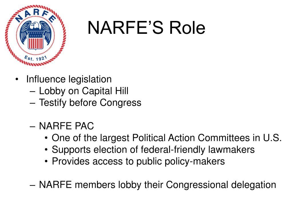 NARFE'S Role
