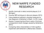 new narfe funded research