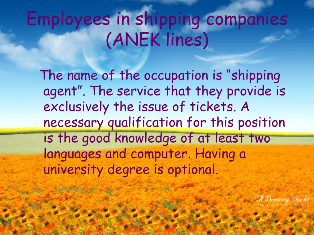 Employees in shipping companies (ANEK lines)