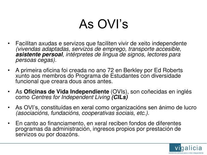 As OVI's