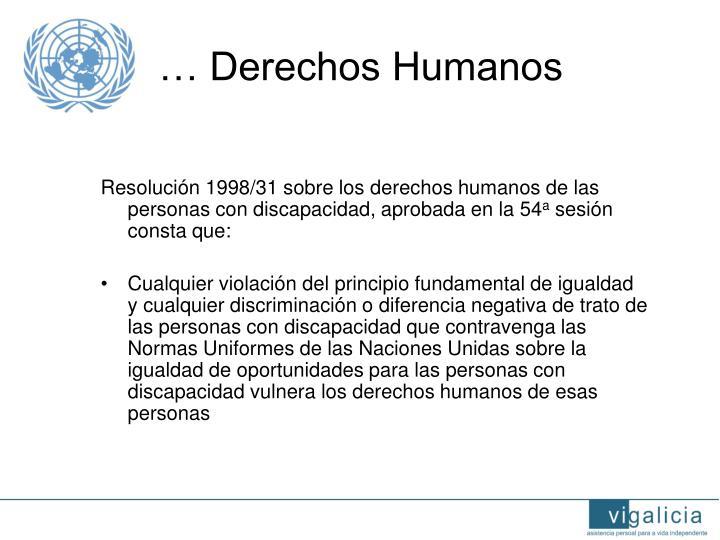 … Derechos Humanos