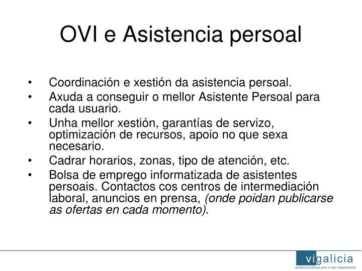 OVI e Asistencia persoal
