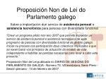 proposici n non de lei do parlamento galego