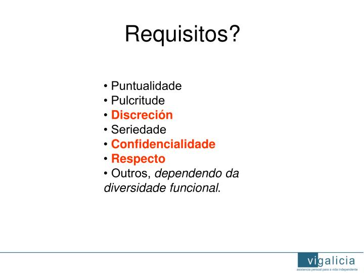 Requisitos?