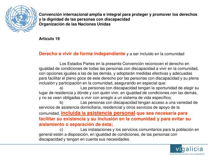Convención internacional amplia e integral para proteger y promover los derechos y la dignidad de las personas con discapacidad