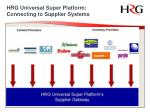 hrg universal super platform connecting to supplier systems