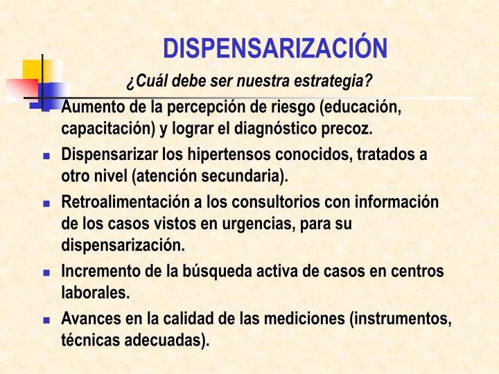DISPENSARIZACIÓN