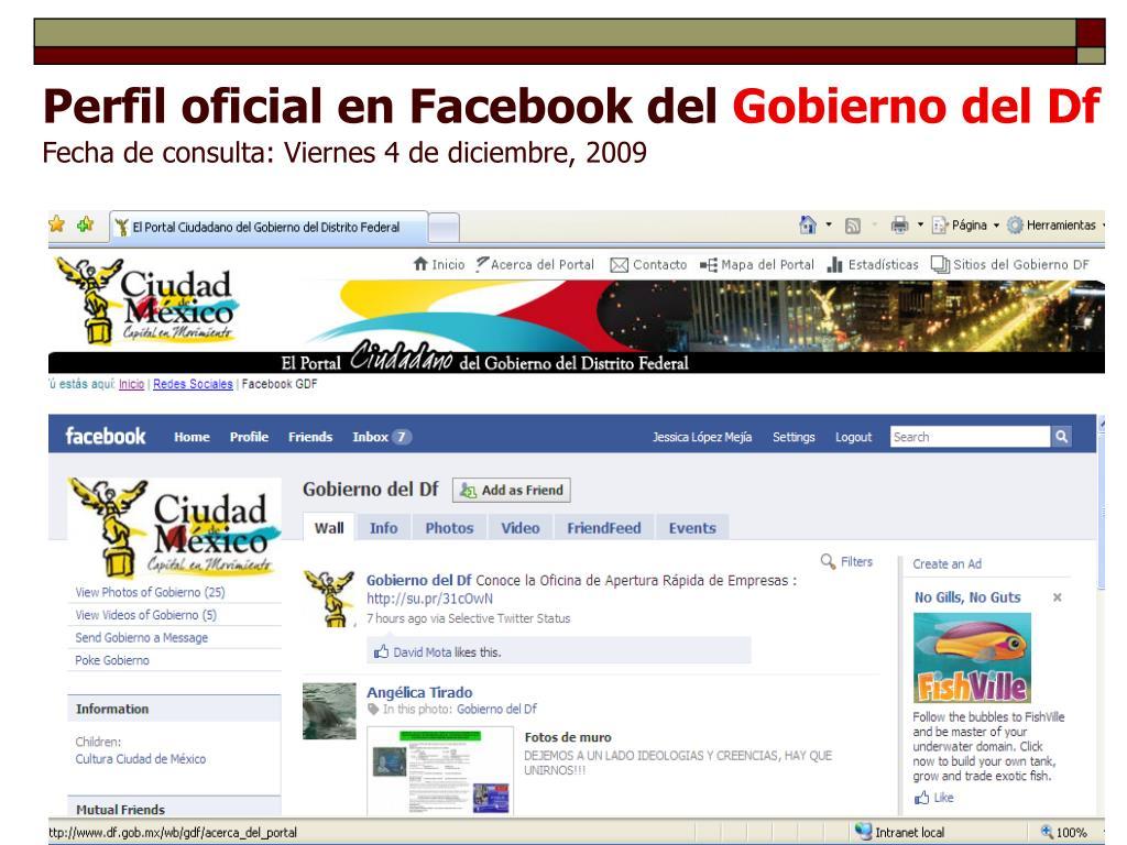 Perfil oficial en Facebook del