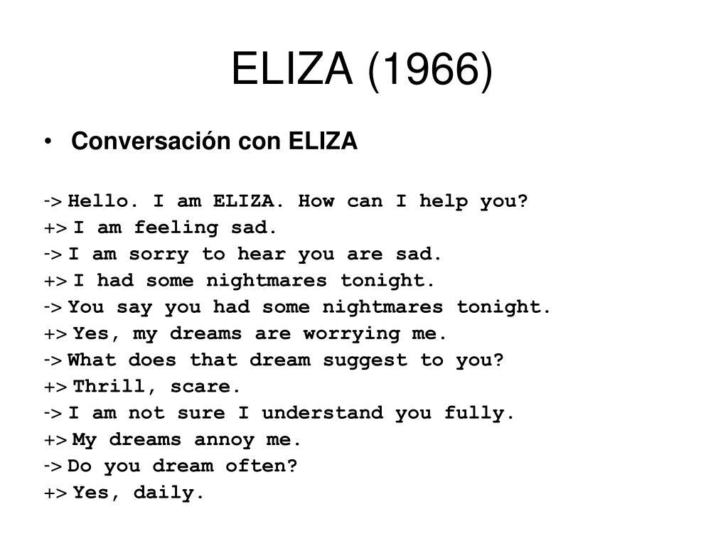 ELIZA (1966)