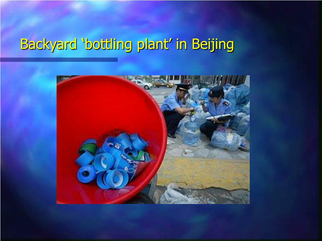 Backyard 'bottling plant' in Beijing