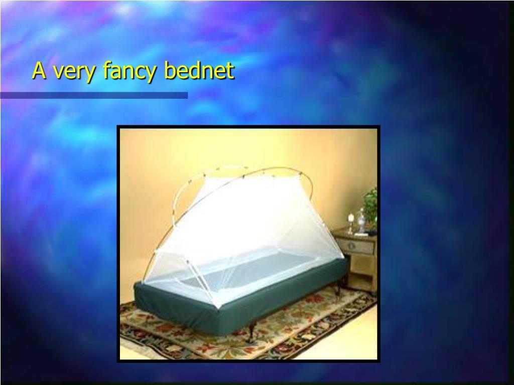 A very fancy bednet