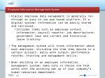 employee information management system3