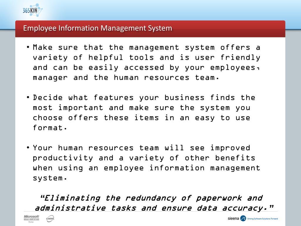 Employee Information Management System