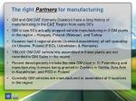 the right partners for manufacturing