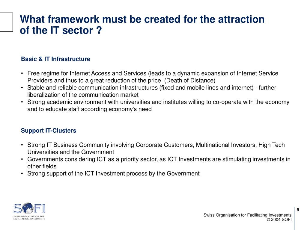 What framework must be created for the attraction