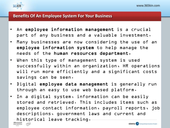 Benefits of an employee system for your business