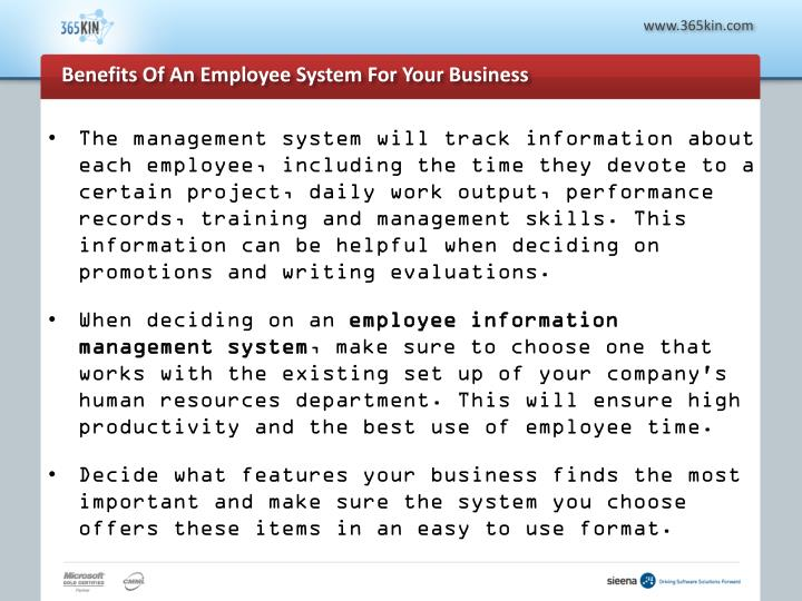 Benefits of an employee system for your business3