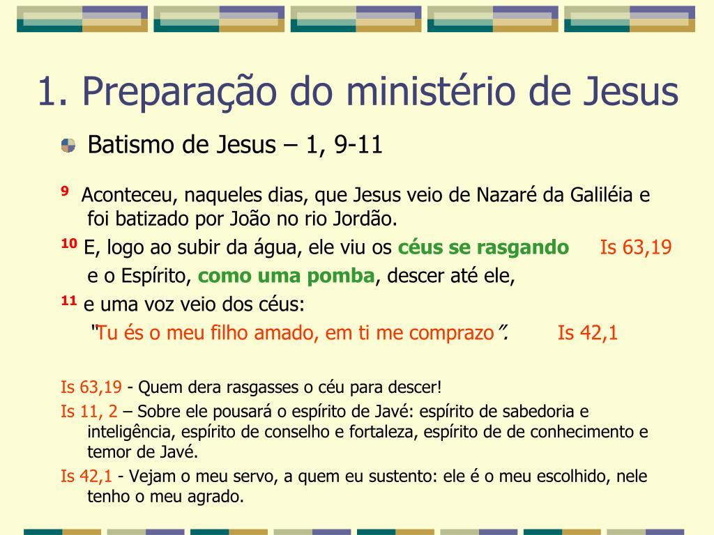 Batismo de Jesus – 1, 9-11