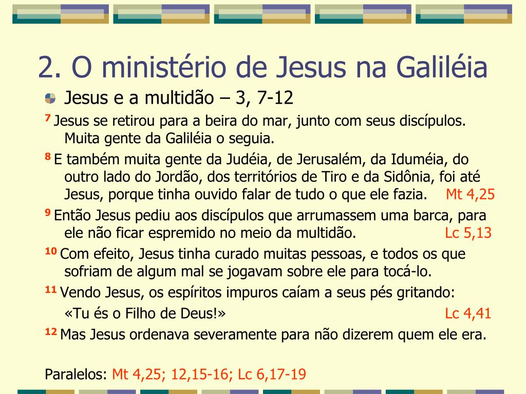 Jesus e a multidão – 3, 7-12