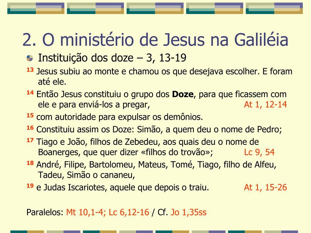 Instituição dos doze – 3, 13-19