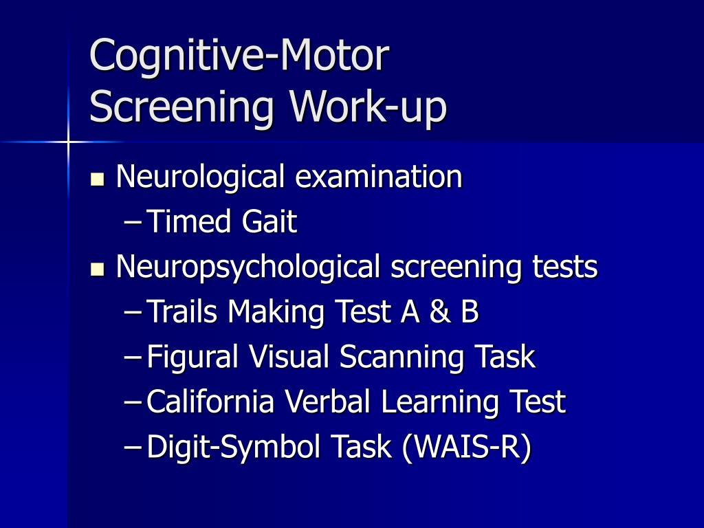 Cognitive-Motor