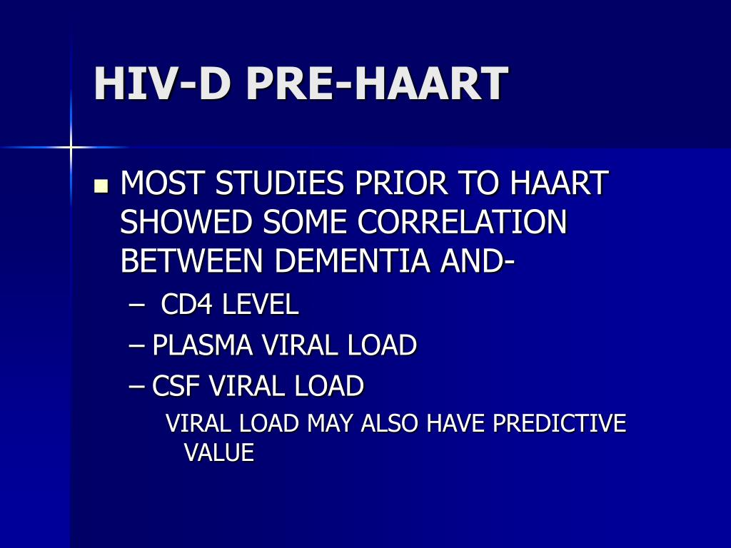 HIV-D PRE-HAART