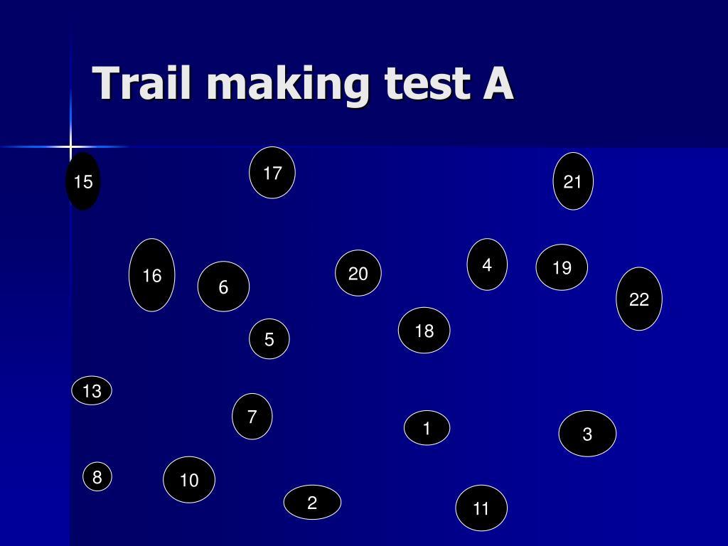 Trail making test A