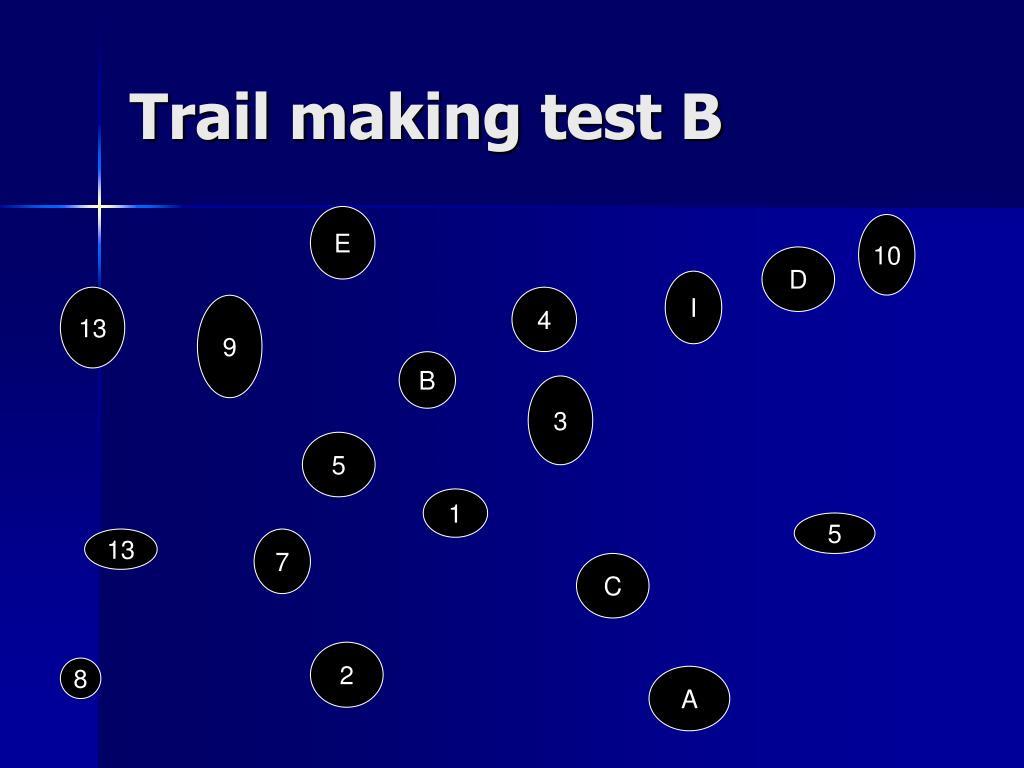 Trail making test B