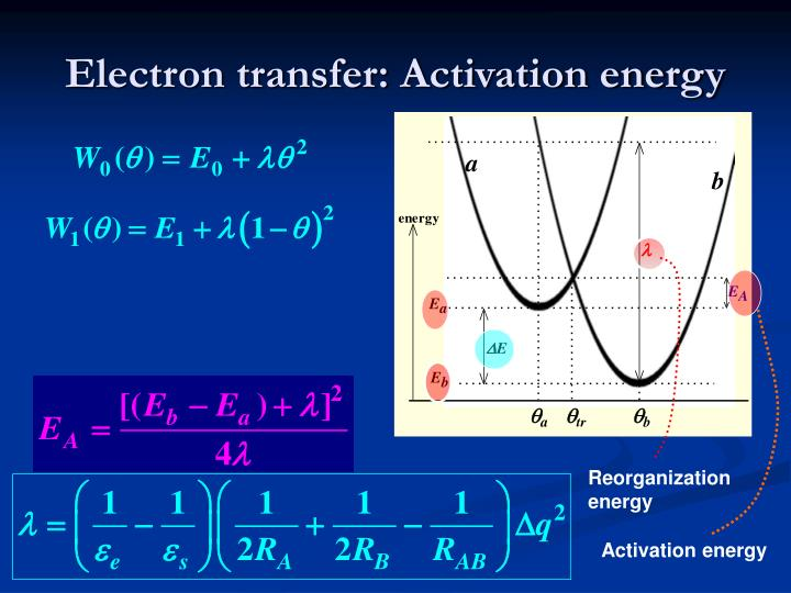 Electron transfer: Activation energy