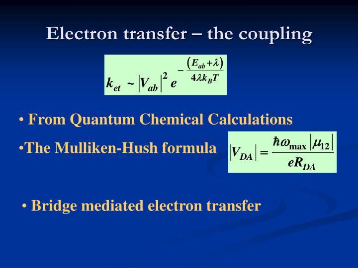 Electron transfer – the coupling