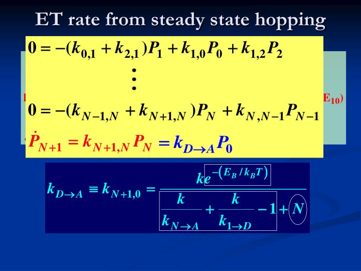 ET rate from steady state hopping